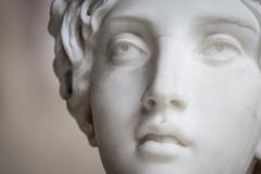 dettaglio volto statua