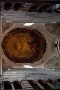 Cattedrale di Pisa, vista della cupola prima del restauro