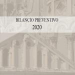 bilancio preventivo 2020 copertina